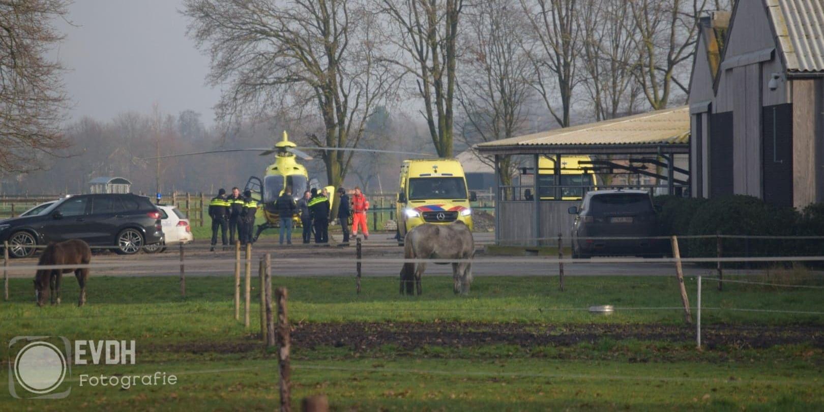 Traumahelikopter ingezet bij incident op manege Heikant - GO-RTV.